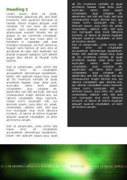 Information Galaxy Word Template, First Inner Page, 05514, Technology, Science & Computers — PoweredTemplate.com