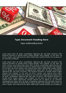 Dollars Investment Word Template, Cover Page, 05515, Financial/Accounting — PoweredTemplate.com