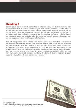 Dollars Investment Word Template, Second Inner Page, 05515, Financial/Accounting — PoweredTemplate.com