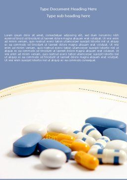 Prescription Word Template, Cover Page, 05517, Medical — PoweredTemplate.com