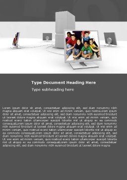 Social Web Word Template, Cover Page, 05518, Education & Training — PoweredTemplate.com