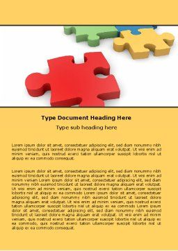 Red Jigsaw Word Template, Cover Page, 05521, Consulting — PoweredTemplate.com