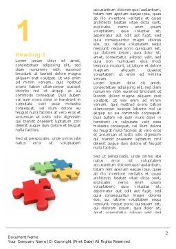 Red Jigsaw Word Template, First Inner Page, 05521, Consulting — PoweredTemplate.com
