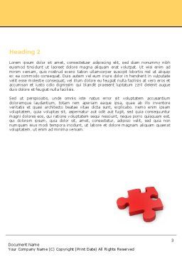 Red Jigsaw Word Template, Second Inner Page, 05521, Consulting — PoweredTemplate.com