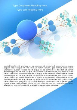 Developed Network Word Template, Cover Page, 05526, Technology, Science & Computers — PoweredTemplate.com