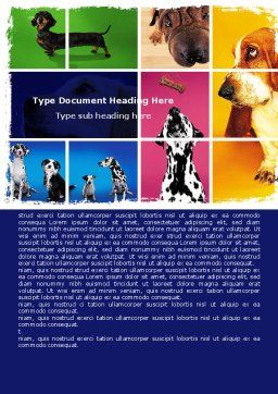 Dog Breed Word Template, Cover Page, 05529, Agriculture and Animals — PoweredTemplate.com