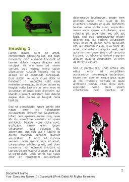 Dog Breed Word Template, First Inner Page, 05529, Agriculture and Animals — PoweredTemplate.com