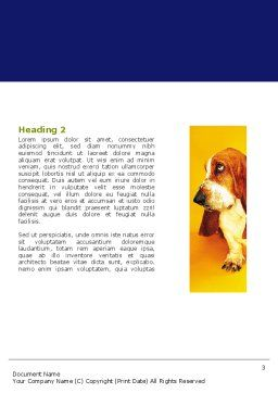 Dog Breed Word Template, Second Inner Page, 05529, Agriculture and Animals — PoweredTemplate.com