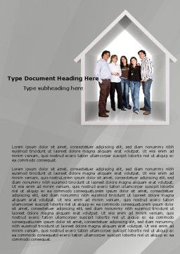House For Family Word Template, Cover Page, 05531, Consulting — PoweredTemplate.com
