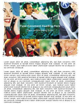 Phone Communication Word Template, Cover Page, 05534, Telecommunication — PoweredTemplate.com