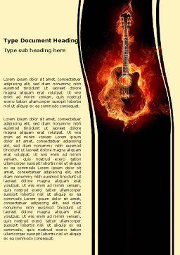 Jazz Guitar Word Template Cover Page