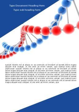 Structure Genome Word Template, Cover Page, 05540, Medical — PoweredTemplate.com