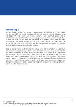 Structure Genome Word Template, Second Inner Page, 05540, Medical — PoweredTemplate.com