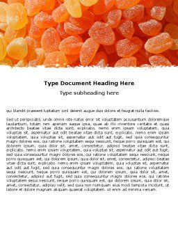 Free Fruit Jelly Word Template, Cover Page, 05543, Food & Beverage — PoweredTemplate.com