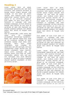 Free Fruit Jelly Word Template, First Inner Page, 05543, Food & Beverage — PoweredTemplate.com