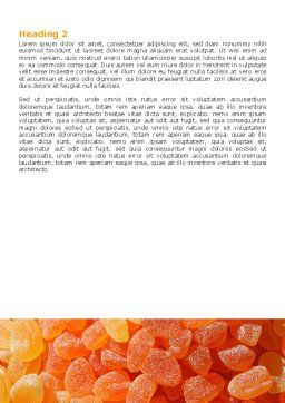 Free Fruit Jelly Word Template, Second Inner Page, 05543, Food & Beverage — PoweredTemplate.com