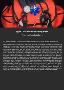 Ambulance Kit Word Template, Cover Page, 05551, Medical — PoweredTemplate.com