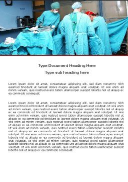 Procedure In Operating Room Word Template, Cover Page, 05552, Medical — PoweredTemplate.com