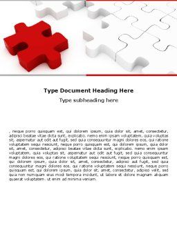 Fitting In Word Template, Cover Page, 05554, Consulting — PoweredTemplate.com