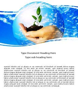 Save World Word Template, Cover Page, 05558, Nature & Environment — PoweredTemplate.com