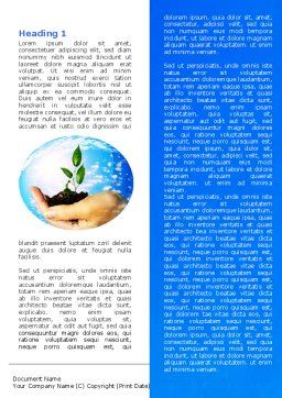 Save World Word Template, First Inner Page, 05558, Nature & Environment — PoweredTemplate.com