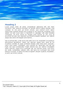 Save World Word Template, Second Inner Page, 05558, Nature & Environment — PoweredTemplate.com