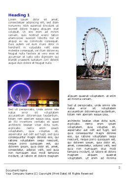 Millennium Wheel Word Template, First Inner Page, 05560, Construction — PoweredTemplate.com