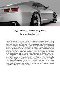 Car Word Template, Cover Page, 05566, Cars/Transportation — PoweredTemplate.com