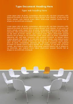 Group Discussion Word Template, Cover Page, 05569, Education & Training — PoweredTemplate.com