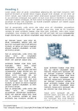 Cube Word Template, First Inner Page, 05571, Construction — PoweredTemplate.com