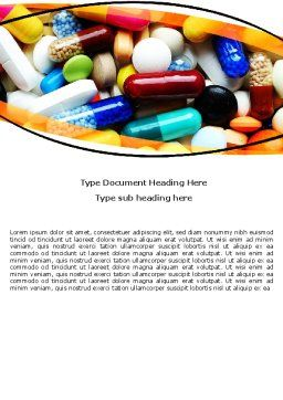 Drug Treatment Word Template, Cover Page, 05572, Medical — PoweredTemplate.com