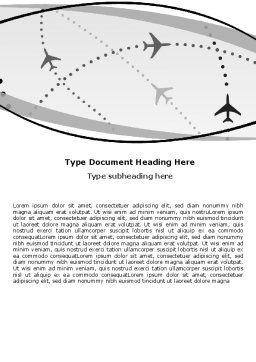 Air Traffic Word Template, Cover Page, 05573, Cars/Transportation — PoweredTemplate.com