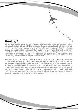 Air Traffic Word Template, Second Inner Page, 05573, Cars/Transportation — PoweredTemplate.com