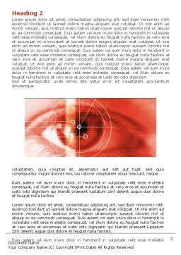 Eye In Red Colors Word Template, First Inner Page, 05574, Technology, Science & Computers — PoweredTemplate.com