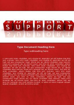 Support Word Template, Cover Page, 05580, Careers/Industry — PoweredTemplate.com