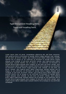 Stairway To Heaven Word Template, Cover Page, 05581, Business Concepts — PoweredTemplate.com