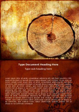 Growth Rings Word Template, Cover Page, 05582, Careers/Industry — PoweredTemplate.com
