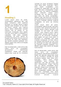 Growth Rings Word Template, First Inner Page, 05582, Careers/Industry — PoweredTemplate.com