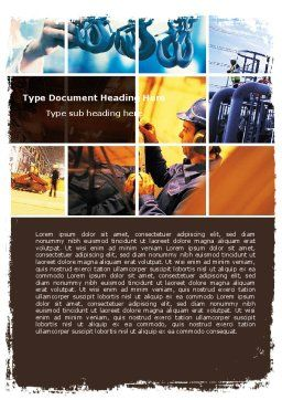 Industrial Plant Word Template, Cover Page, 05594, Utilities/Industrial — PoweredTemplate.com