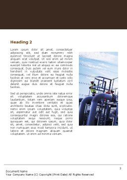 Industrial Plant Word Template, Second Inner Page, 05594, Utilities/Industrial — PoweredTemplate.com