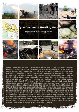 War in Ossetia Word Template, Cover Page, 05595, Military — PoweredTemplate.com