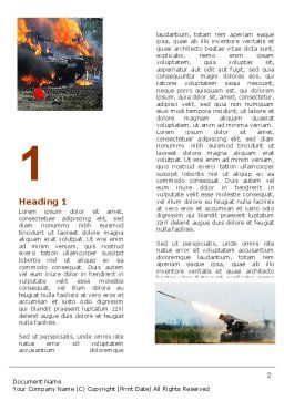 War in Ossetia Word Template, First Inner Page, 05595, Military — PoweredTemplate.com