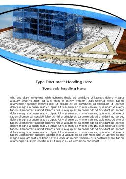 Office Building Planning Word Template, Cover Page, 05599, Construction — PoweredTemplate.com
