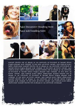 Dogs Word Template, Cover Page, 05601, Agriculture and Animals — PoweredTemplate.com