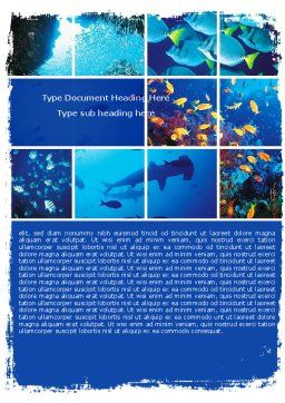 Underwater Life Word Template Cover Page