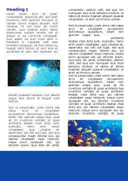 Underwater Life Word Template First Inner Page