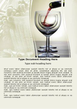 Wine Word Template, Cover Page, 05605, Careers/Industry — PoweredTemplate.com