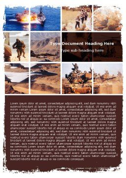 War Conflicts Collage Word Template, Cover Page, 05606, Military — PoweredTemplate.com
