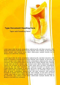 Glass Of Orange Slices Word Template, Cover Page, 05610, Food & Beverage — PoweredTemplate.com