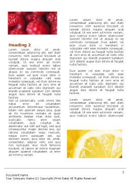 Fresh Fruits Word Template First Inner Page